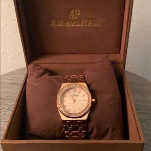 Rose gold Audemars Piguet Royal Oak watch